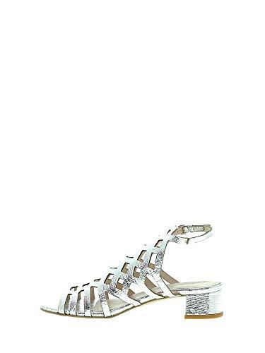 argento Sandali in con 6198 Mally donna tacco da alto OHWp8Wczqw