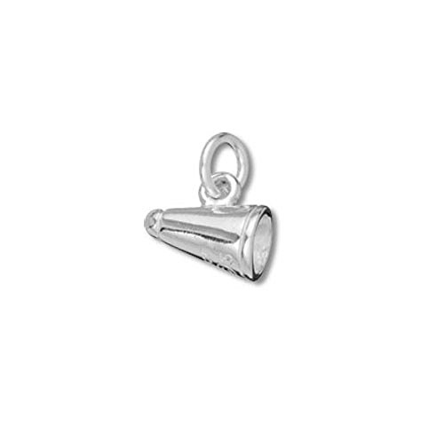 Sterling Silver Small Megaphone Chearleading Charm - Item #3308