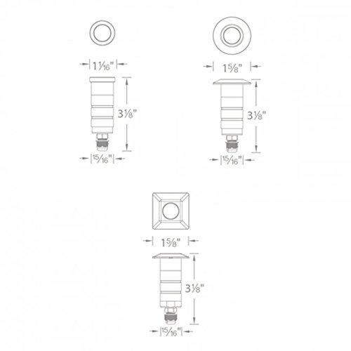 WAC Lighting 1021-30SS 1'' Inground LED 12V Round Indicator LightStainless Steel by WAC Lighting (Image #4)
