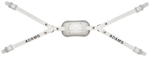 Adams Gel-100 Adult High Hookup Gel Chinstrap (White/White)