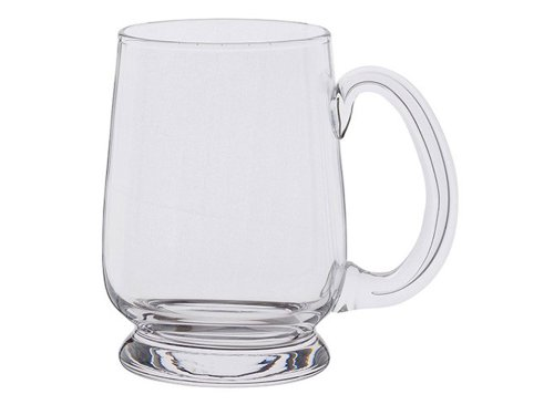 Dartington Crystal 1-Piece Barley Corn 1/ 2 Tankard, Pink DR2819/HP