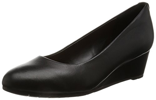 con Black para Sandalias Clarks Mujer Bloom Negro Cuña Vendra Leather qtwp8