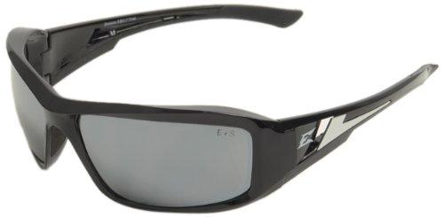 Edge Eyewear XB117 Brazeau Safety Glasses, Black with Silver Mirror Lens