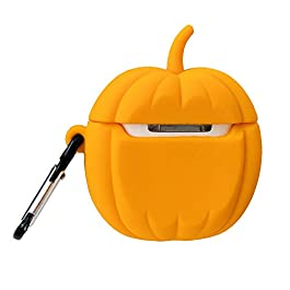 Airpods Case,New Pumpkin Lantern Case for Airpods 1&2, Airpods Accessories Shockproof Protective Premium Silicone Cover…