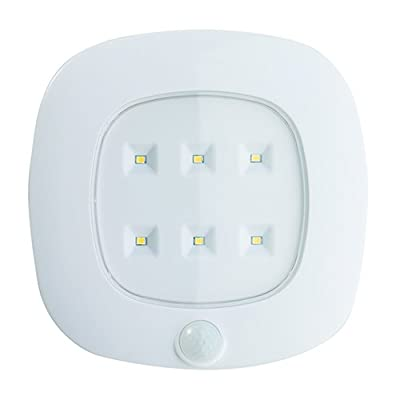 LIGHT IT by Fulcrum 30028-308 6 LED Wireless Motion Sensor Ceiling Light with On/Off Timer