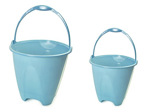 PAIL WITH COMFORT-GRIP HANDLE 10.75''DIA X 10''H, BLU GRN YEL , Case of 48