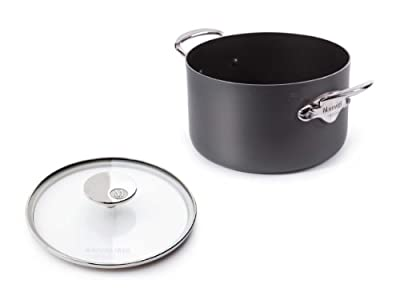 Mauviel Made In France M'Stone Ceramic Non-Stick 2 8231.75 Stewpan with Glass Lid, 6.3-Quart