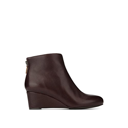 Wine Merlot Almond (Gentle Souls by Kenneth Cole Vicki Wedge Bootie Merlot)