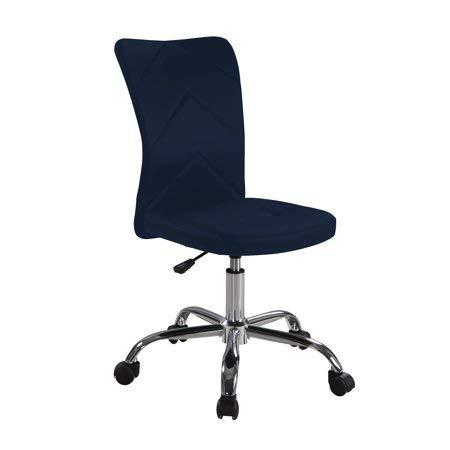 Mainstay Chevron Adjustable Height Armless Task Chair, Navy (Task Designs Z-line Chair)