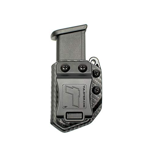 Tulster Universal 9mm/.40 Double Stack Mag Carrier Echo Carrier IWB/OWB (Black Carbon Fiber)