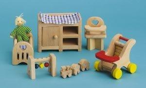 Small World Toys Ryan's Room Wooden Doll House Night, Night Sleep Tight Nursery Room by Small World Toys