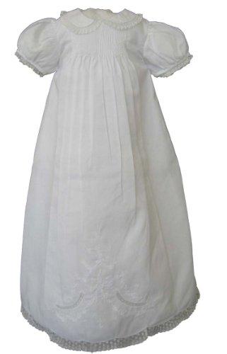 Feltman Brothers Infant Girls White Christening Baptism Gown -White-NB-3M