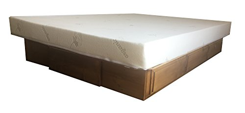 King Size Bed Unfinished (Strobel Organic Baltimore Premium Solid White Pine 9