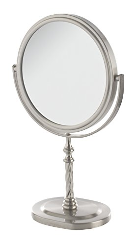 Jerdon JP526N 6-Inch Vanity Mirror with 5x Magnification, Nickel Finish