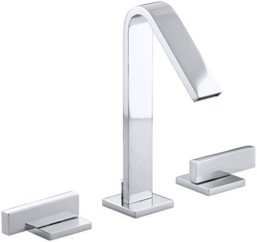 (Kohler K-14661-4-CP Loure Widespread Lavatory Faucet, Chrome)