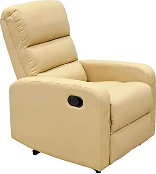 Amicasa. sillón de Piel sintética PU Color Beige hs-672 °C ...