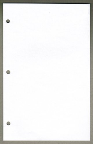 Linco Unruled Filler Paper, 6'' x 9.5'', White, 3-holes, 100 Sheets by Linco