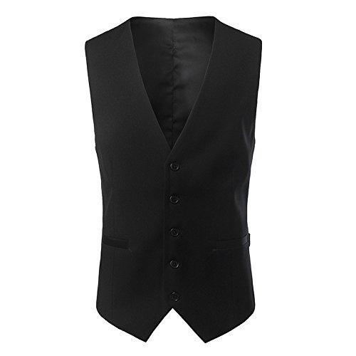Hmjnklm männer mit Anzug, Weste, alle Casual - Mode - Weste,schwarz,l