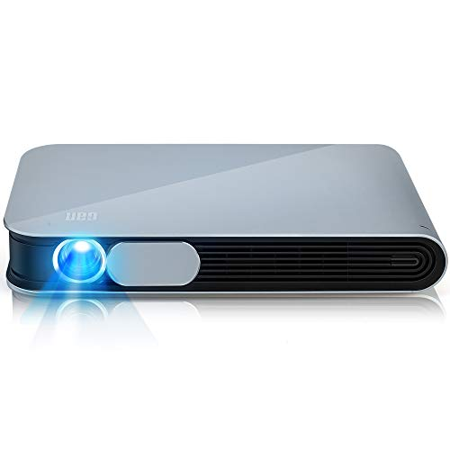 [Upgraded] WOWOTO CAN Projector 3500 Lumens 3D DLP Support Full HD 1080P 300in with Built-in Battery WiFi Bluetooth AirPlay HDMI Android OS Portable Projector with Carrying Case, Gray