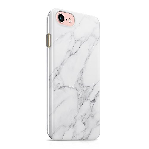 (uCOLOR Case Compatible for iPhone 6s 6 iPhone 7/8 White Gray Marble Ultra Slim Soft TPU Dual Layer Protective Case Compatible for iPhone 6S/6/7/8 (4.7