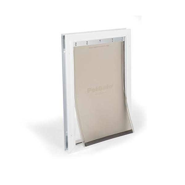PetSafe Freedom Aluminum Pet Door – Interior or Exterior Dog and Cat Door – Durable Frame and Tinted, Flexible Flap…