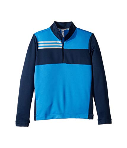 (adidas Golf Color Blocked Half Zip Layer, True Blue, Small)