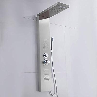 Mampara de Ducha de Acero Inoxidable Columna de Ducha termostática ...