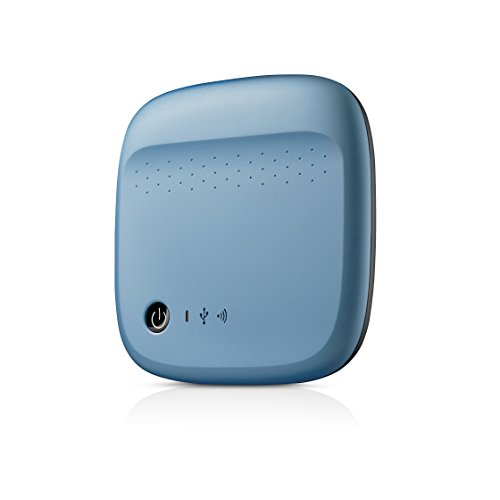 (Seagate Wireless Mobile Portable Hard Drive Storage 500GB STDC500400 (Blue))