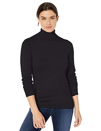 Amazon Essentials Women's Lightweight Turtleneck Sweater, Black, X-Large