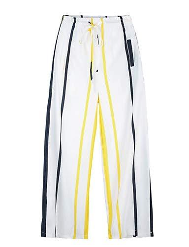 Yfltz Block Vita Pantaloni Gamba Da Larghi Color Yellow Donna Alta 686vqrSwx