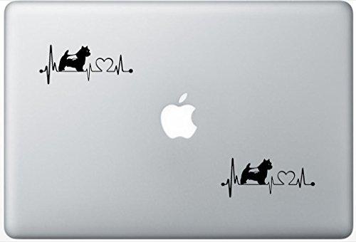 (Norwich Terrier Dog Heartbeat Lifeline Decal PetsAffectionLaptop1890 Set Of Two (2x) , Dog Decal , Sticker , Laptop , Ipad , Macbook)