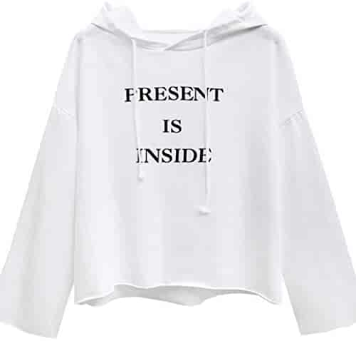 a4839f0fafeb9 Women Letter Print Hoodie Sweatshirt Teen Girls Long Sleeve Pullover Jumper  Sweater Jacket Shirts Tops