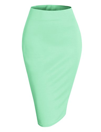 H2H Womens Body-con fitOffice Pencil Skirt Cyan 2XL (AWBMS0188)