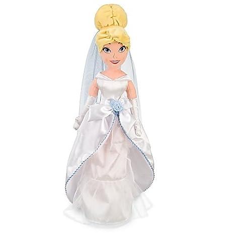 Disney Princess Exclusive 21 Inch Deluxe Plush Figure Cinderella White Wedding Dress