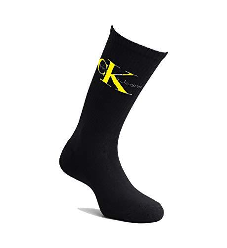 yellow Rib Calvin Nero Black Logo Klein w4xAqzI