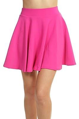 ToBeInStyle Women's Scuba Flair Skirt