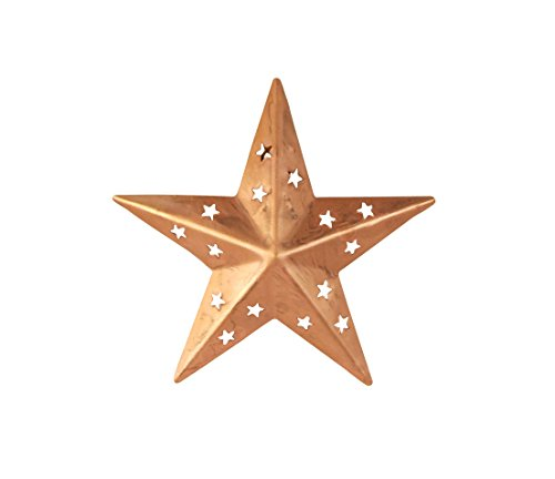 Copper Barn Star Wall - Craft Outlet Tin Copper Star with Cutout (Set of 4), 4