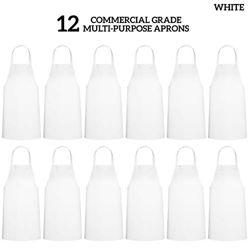 GREEN LIFESTYLE 12 Pack Bib Apron - Unisex Apron Bulk Machine Washable for Kitchen Crafting BBQ Drawing Outdoors (Pack… 3