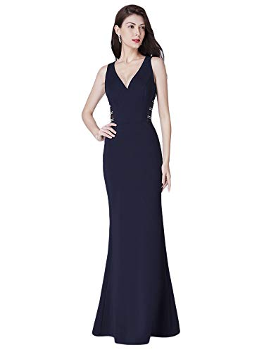 Empire Sirène Longue De Élégante V Soirée Femme pretty Marine Col Ever Robe Bleu 07480 Taille AqvgZY