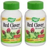 【バリュー2本セット】[海外直送品] Nature's WayB-50レッドクローバー 400mg 100粒Red Clover Blossom & Herb