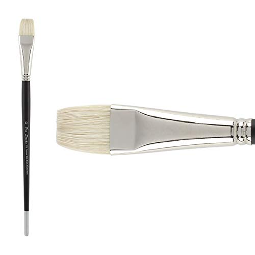 Creative Mark Pro Stroke Premium Artist White ChungKing Hog Bristle Paint Brush - Bright 12 by Creative Mark