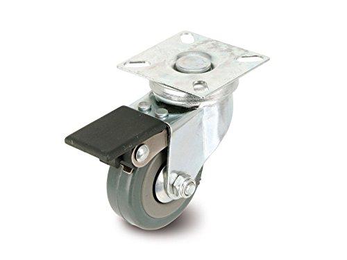 Roulette avec frein sur platine pivotante WTE
