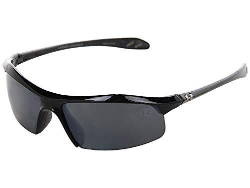 (Under Armour Zone Sunglass Shiny Black Frame W/ Gray Polarized W/ Multiflection Lens)