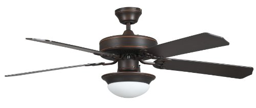 Concord Fans 52HEF5EORB-ES Heritage Fusion Es Ceiling Fan with Light Kit, 52'', Oil Rubbed Bronze by Concord Fans
