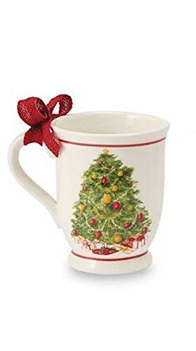 (Vintage Christmas Tree Ceramic Pedestal Coffee Mugs)
