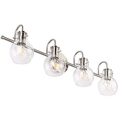 SOLFART Bathroom Lighting Vanity Lights Brushed Nickel Stainless Steel