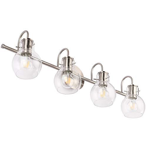 (SOLFART Wall Lighting Bath Vanity Light Brushed Nickel Wall Decor Bathroom Light Fixtures (4 Lights-Exclude)