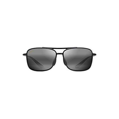 Maui Jim Unisex Kaupo Gap Gloss Black/Neutral Grey Sunglasses