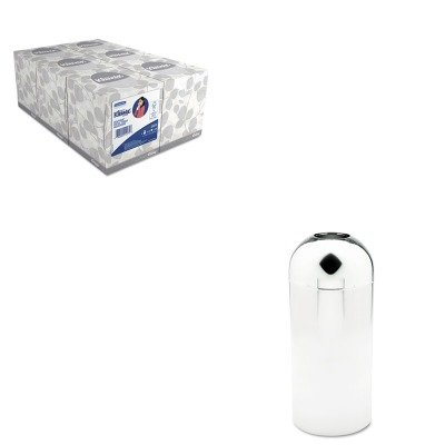 KITKIM21271SAF9875 - Value Kit - Safco Reflections Open-Top Dome Receptacle (SAF9875) and KIMBERLY CLARK KLEENEX White Facial Tissue (KIM21271)