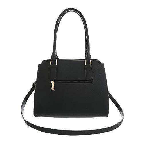 Bolso de One mujer Ital Negro hombro Size al Sintético para Negro Design AFq5B